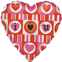 I (Heart) U Pink and Red Balloon in a Box