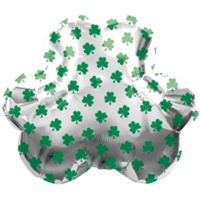 Shamrock Silver Pattern Balloon in a Box