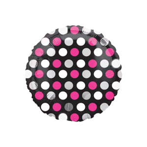 Pink Dots on Black Balloon in a Box