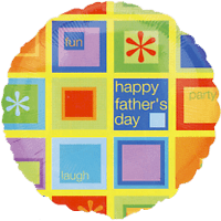 Fathers Day Squares Balloon in a Box