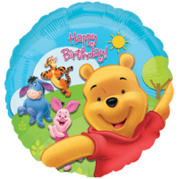 Colourful Winnie the Pooh and Friends Birthda Balloon in a Box