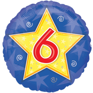 Number Six Star Balloon in a Box