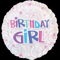 Colourful Birthday Girl Swirls