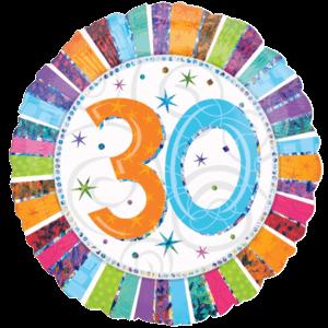 30 Glitter Birthday Balloon in a Box