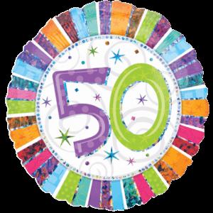 50 Glitter Birthday Balloon in a Box