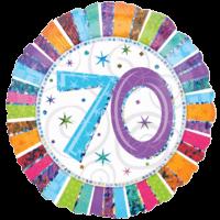 70 Glitter Birthday Balloon in a Box