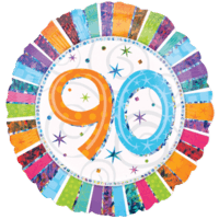 90 Glitter Birthday Balloon in a Box