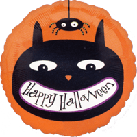 Cunning Cat Halloween Balloon in a Box