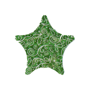 Super Green Xmas Star Balloon in a Box