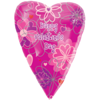 Happy Valentine's Day Pink Flower Shades Balloon in a Box