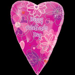 Valentine's Day Flower Pattern Balloon in a Box