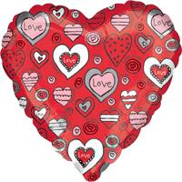 Red Love Heart Pattern