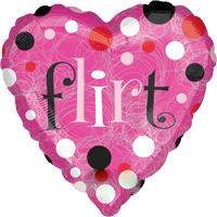 Pink Heart Flirt Balloon in a Box