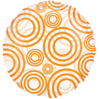 Orange Swirls Transparent Balloon in a Box