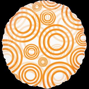 Transparent Orange Circles Balloon in a Box