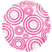 Pink Swirl Circles Balloon in a Box