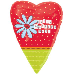 Spots & Flower Mother's Day Heart Balloon in a Box