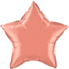 """20"""" Custom Printed Coral Star Foil Balloons overview"""