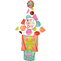 Happy Birthday Tree Stacker Balloon in a Box