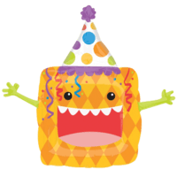 Crazy Party Animal Square Balloon in a Box