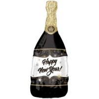 Happy New Year Champagne Bottle Balloon in a Box