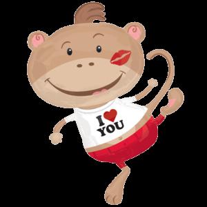 I Heart You Monkey