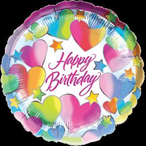 Birthday Hearts & Stars Balloon in a Box