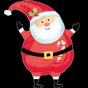 Happy Joyful Santa Balloon in a Box