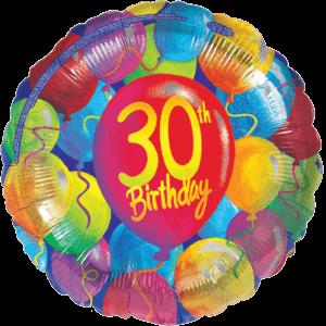 30th Balloon Birthday Balloon in a Box