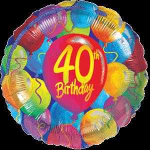 40th Balloon Birthday Balloon in a Box
