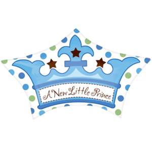New Baby Boy Crown Balloon in a Box