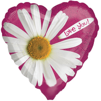 Sparkle Daisy Love Balloon in a Box