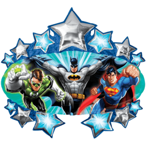 Justice League Stars SuperShape Balloon in a Box