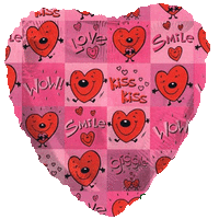 Love & Kisses Heart Balloon in a Box