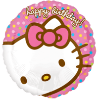 Pastel Pink Birthday Kitty Balloon in a Box