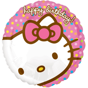 Pastel Pink Birthday Kitty Balloon in a Box
