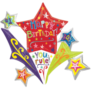 Mega Birthday Stars Colourful