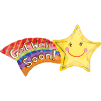 Shooting Star Get Well Soon  Balloon in a Box