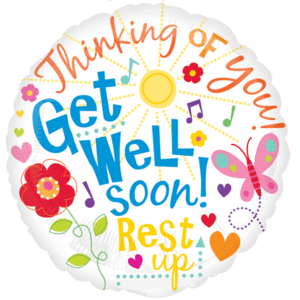 Get Well Soon Cheerful Colours Balloon in a Box