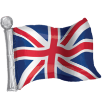 "22"" Great Britain Flag Balloon in a Box"