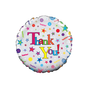 Thank You Colourful Stars Balloon in a Box