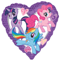 "32"" My Little Pony Heart Balloon in a Box"