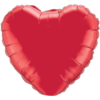 """18"""" Custom Printed Ruby Red Heart Foil Balloons overview"""