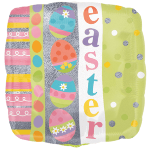 Pastel Holographic Easter Balloon in a Box
