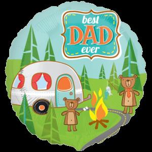 Dad Teddy Bear Camping Balloon in a Box