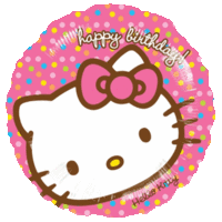 Birthday Hello Kitty Polkadots Balloon in a Box