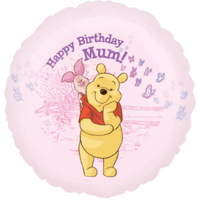 "18"" Happy Birthday Mum Winnie the Pooh Balloon in a Box"