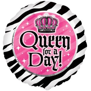 Queen For A Day Zebra Stripes Balloon in a Box
