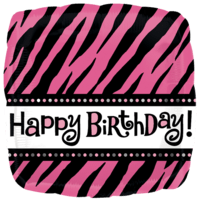 Happy Birthday Zebra Print