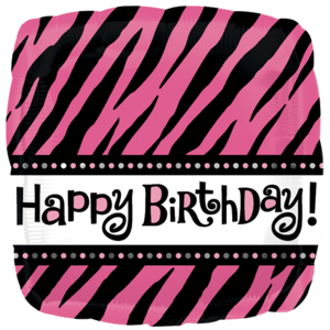 Black & Pink Happy Birthday Balloon in a Box